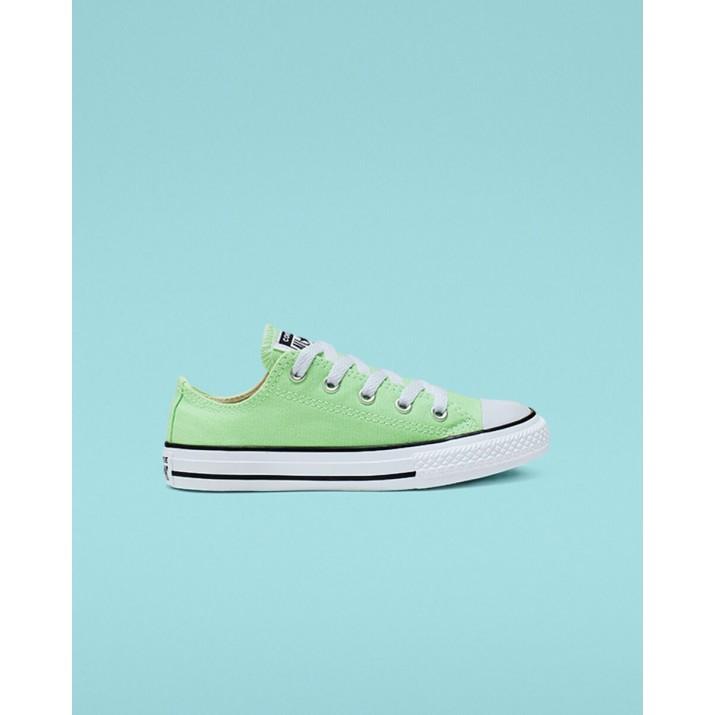 Kids Converse Chuck Taylor All Star Shoes Green 026RLEWQ