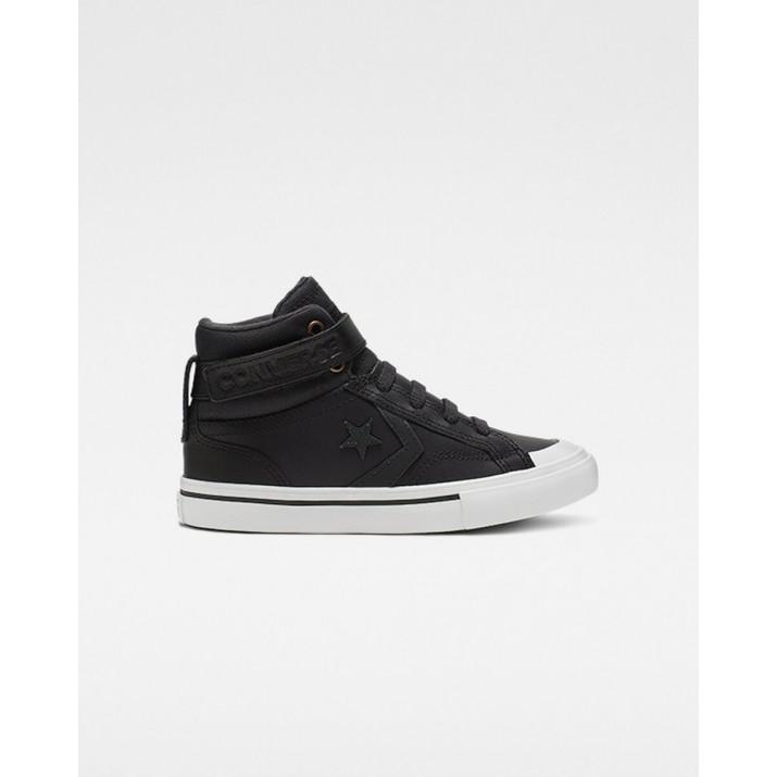 Kids Converse Pro Blaze Strap Shoes Black 028WJHFD