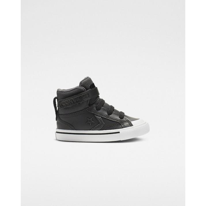 Kids Converse Pro Blaze Strap Shoes Black 062KPRAV