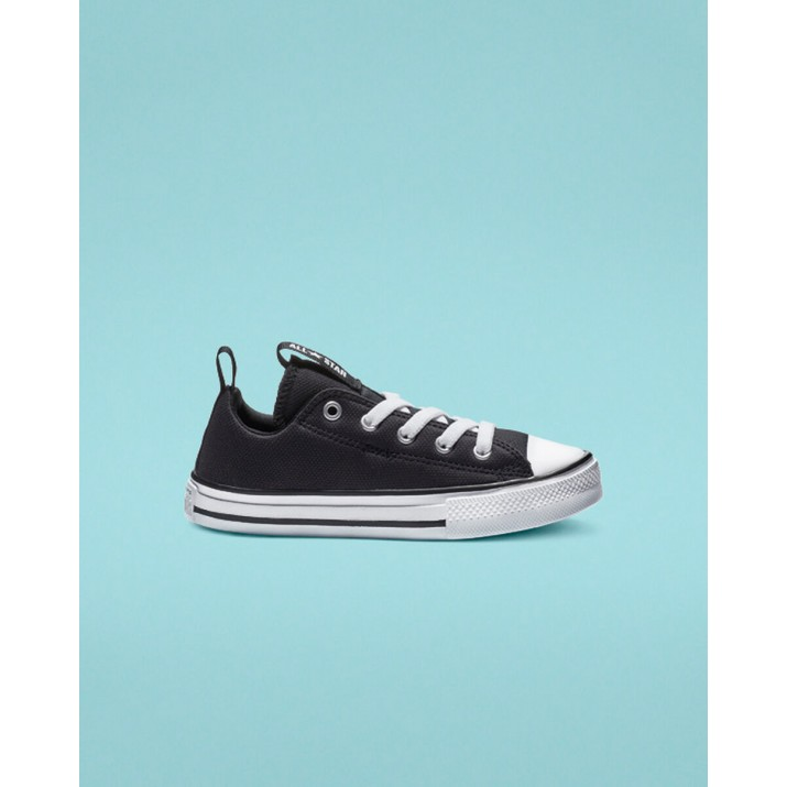 Kids Converse Chuck Taylor All Star Shoes Black/White 136UXNXC