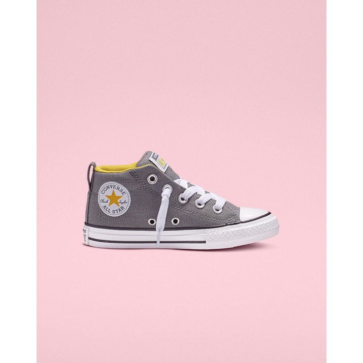 Kids Converse Chuck Taylor All Star Shoes Grey/White 156EYWXU