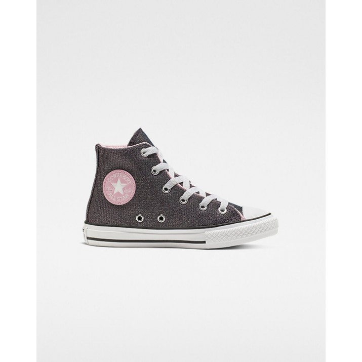 Kids Converse Chuck Taylor All Star Shoes Pink/Silver/White 187KDMWD