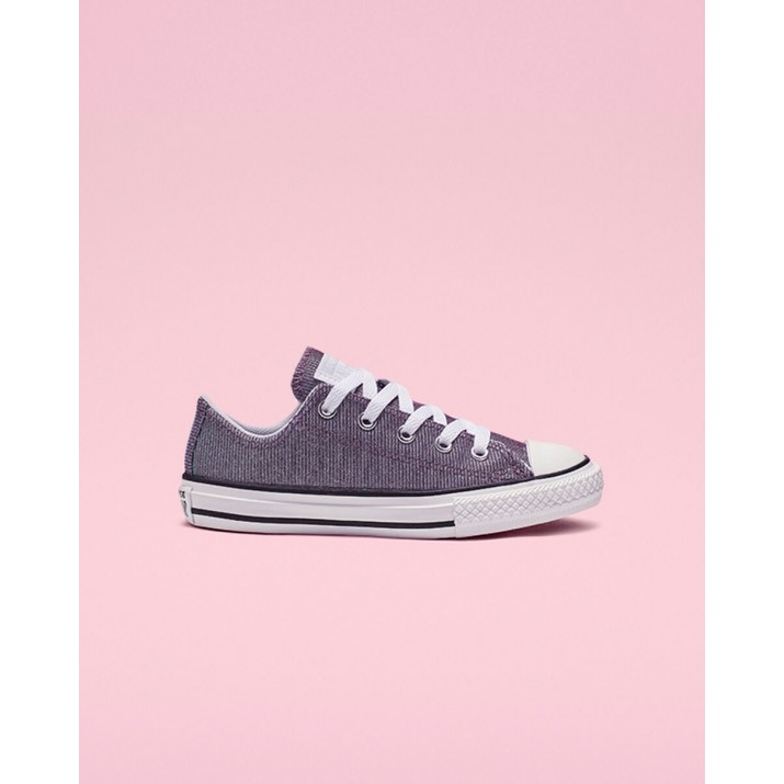 Kids Converse Chuck Taylor All Star Shoes Platinum/Silver/White 261CMEVS