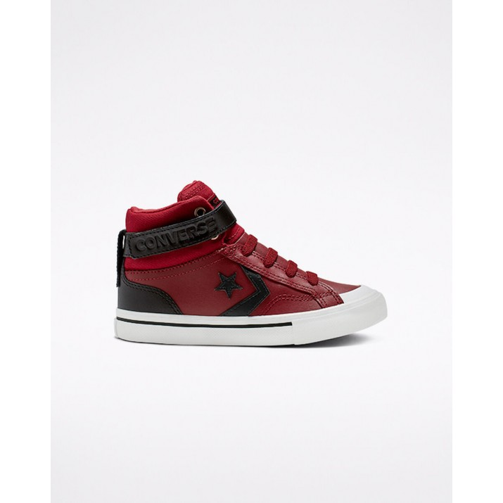 Kids Converse Pro Blaze Strap Shoes Dark Red 264HYCYY