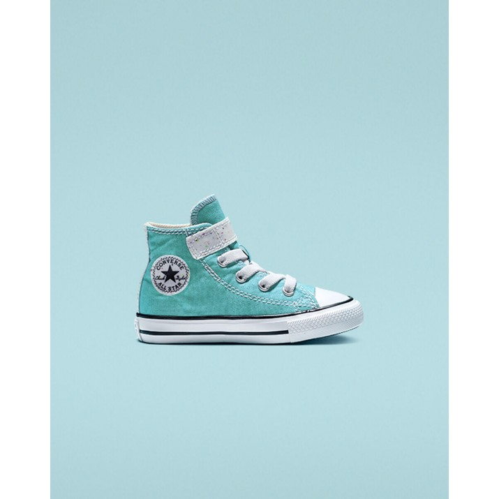Kids Converse Galaxy Dust Shoes Green/Beige White 353IOTLD