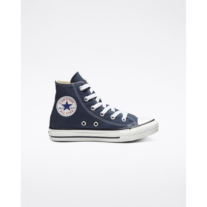 Kids Converse Chuck Taylor All Star Shoes Navy 389ATGQE