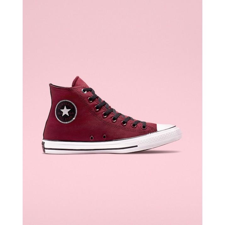 Womens Converse Chuck Taylor All Star Shoes Dark Red/White/Black 399AQNHM