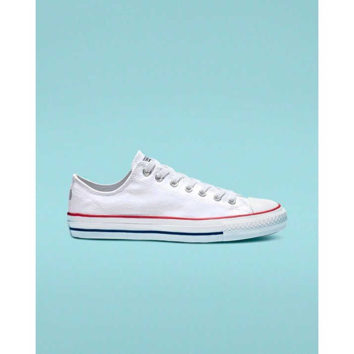 Womens Converse Ctas Pro Shoes White/Red/Blue 403DHOMF