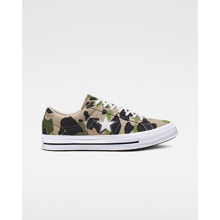 Womens Converse One Star Shoes Green 442NYIYV