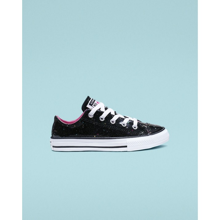 Kids Converse Chuck Taylor All Star Shoes Black/Pink/White 470QZILD