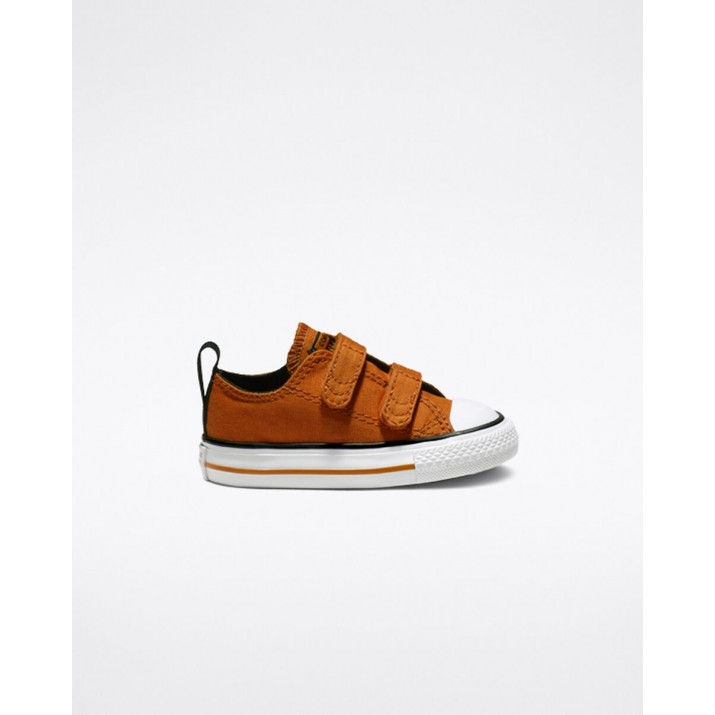 Kids Converse Chuck Taylor All Star Shoes Orange/Black/White 482BJZFI