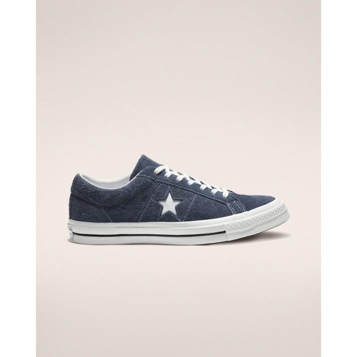 Mens Converse One Star Shoes Navy/White 536LMEFA