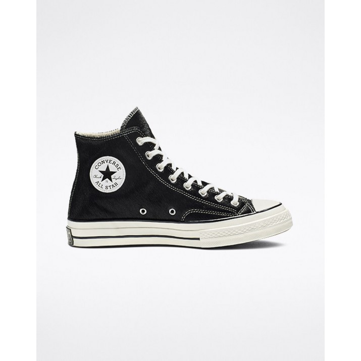 Womens Converse Chuck 70 Shoes Black 584VGLBU