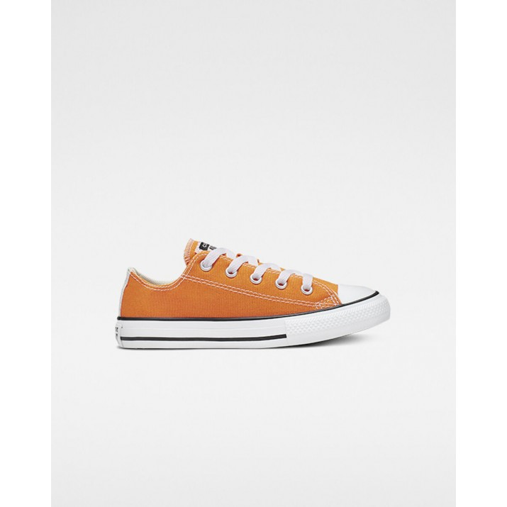 Kids Converse Chuck Taylor All Star Shoes Orange/Beige White 632SDUAM
