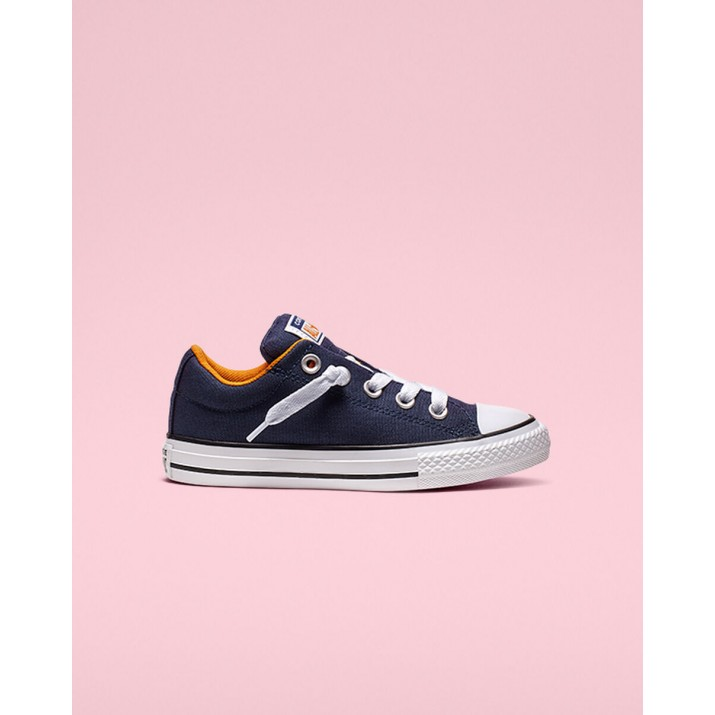 Zapatillas Converse Chuck Taylor All Star Niños Azul Marino/Naranjas/Blancas 647RFLLZ