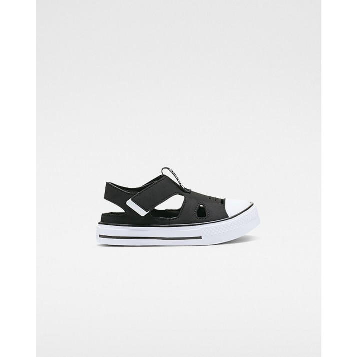 Kids Converse Chuck Taylor All Star Shoes Black/White 687JARAW