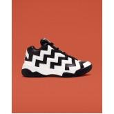 Womens Converse Vltg Mid Shoes Black/White/Black 733SLHDX