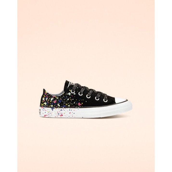 Kids Converse Chuck Taylor All Star Shoes Black/White/Multicolor 794RHXJH