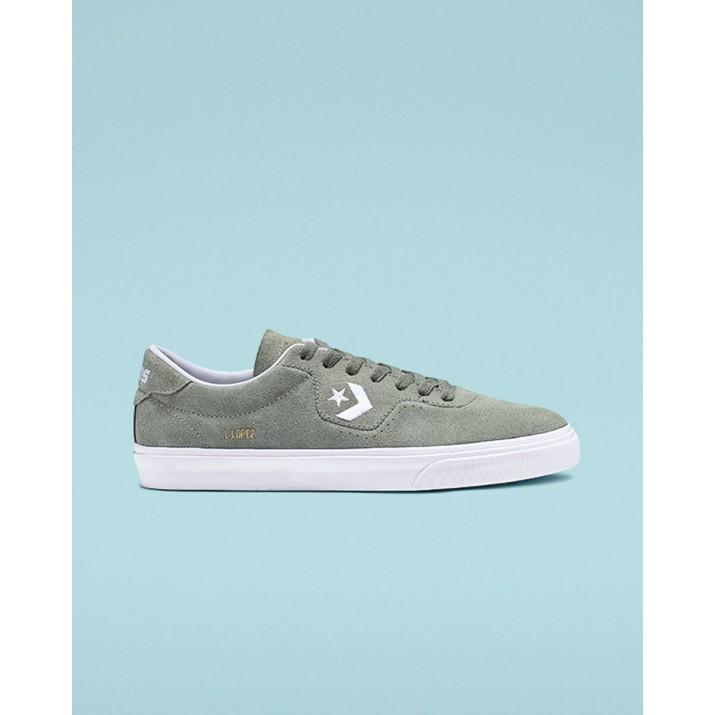 Mens Converse Louie Lopez Pro Shoes Grey/White 829XLYUG