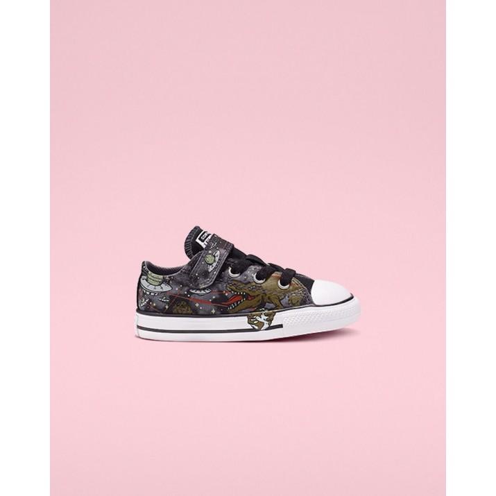 Kids Converse Chuck Taylor All Star Shoes Grey/Olive/Black 834RYTAZ
