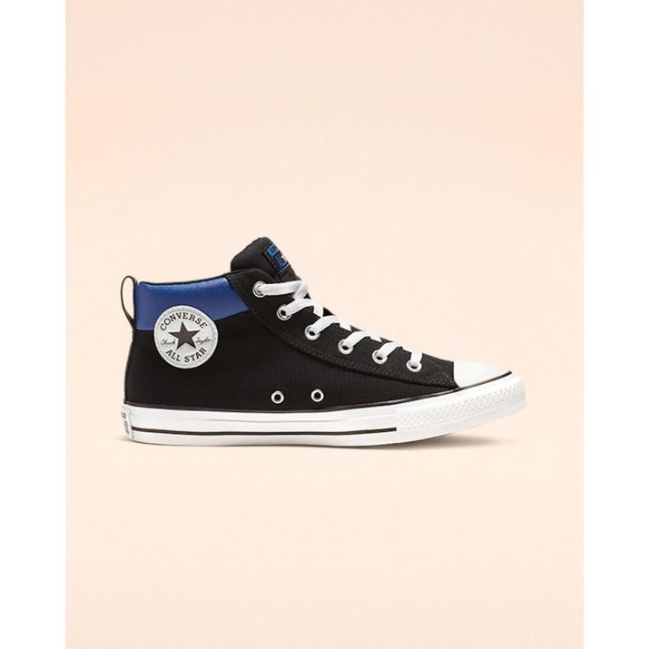 Zapatillas Converse Chuck Taylor All Star Mujer Negras/Blancas/Azules 835AKXJK