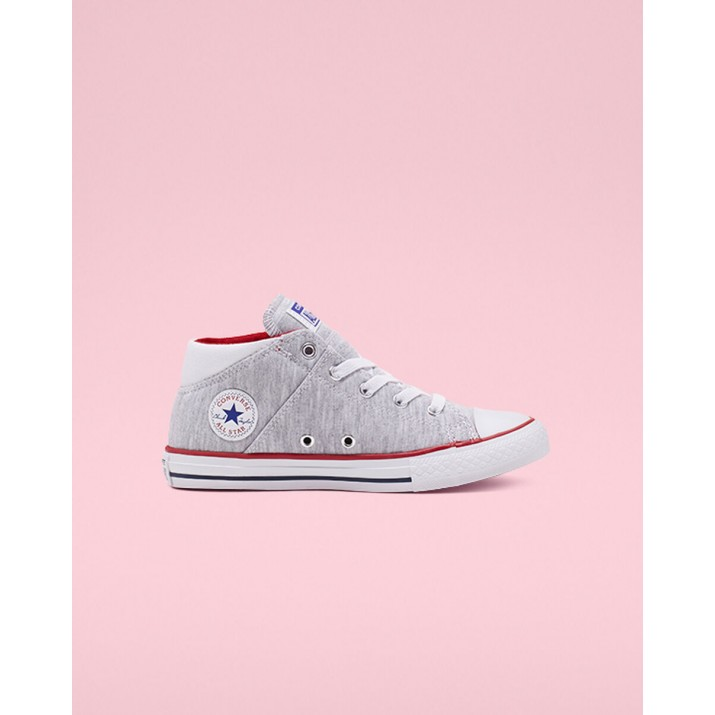 Kids Converse Madison Court Chuck Taylor All Star Shoes White/Red/Blue 855STOYV