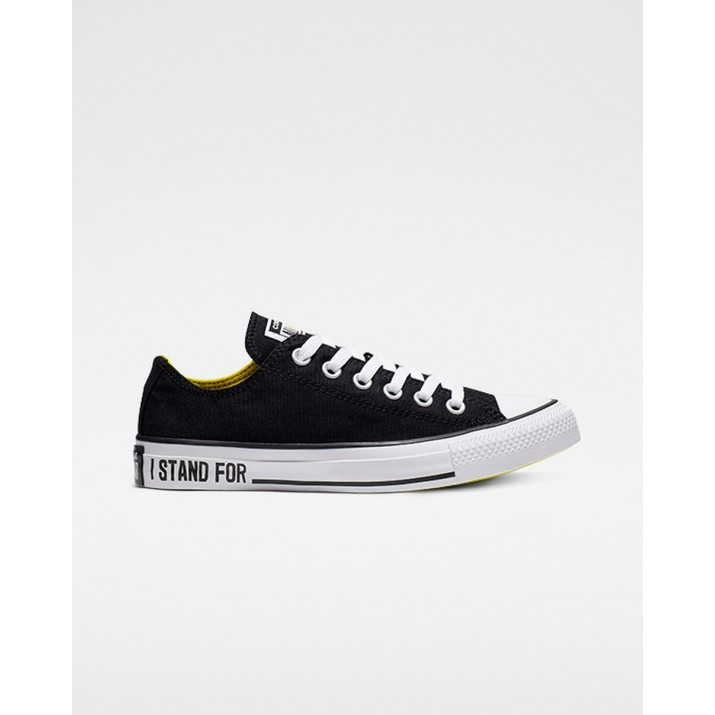 Womens Converse Chuck Taylor All Star Shoes Black/Yellow/White 871BDEHL
