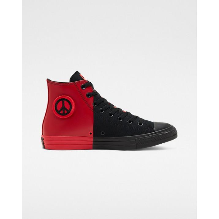 Womens Converse Chuck Taylor All Star Shoes Black/Red/Black 880MDVDU