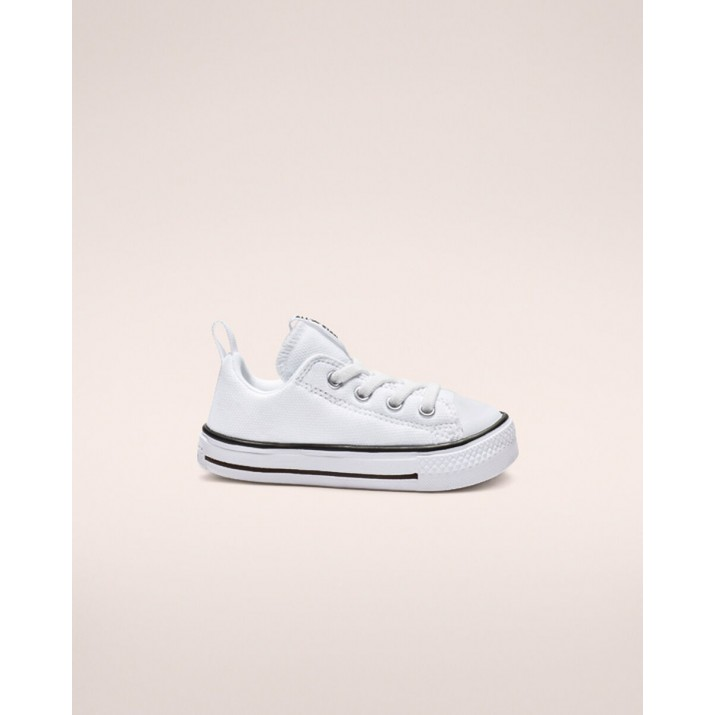 Kids Converse Chuck Taylor All Star Shoes White/Black/White 884ZJAAN