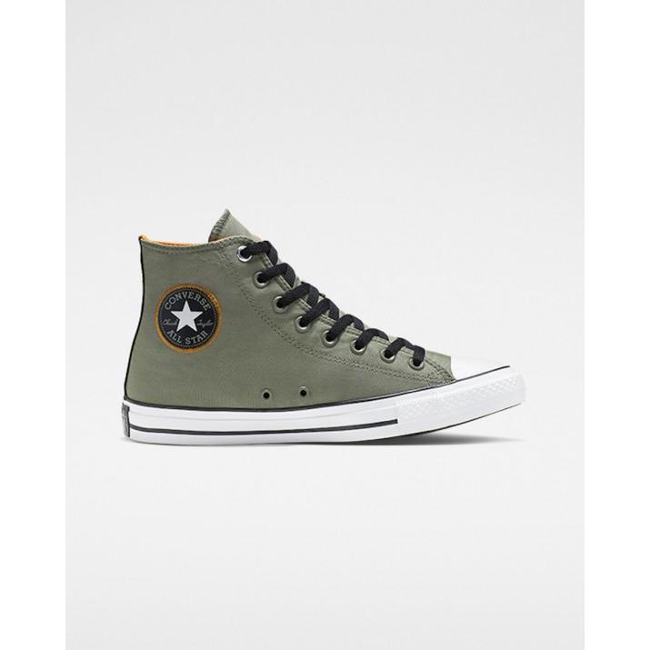 Mens Converse Chuck Taylor All Star Shoes Grey/Black/White 885AYMHJ