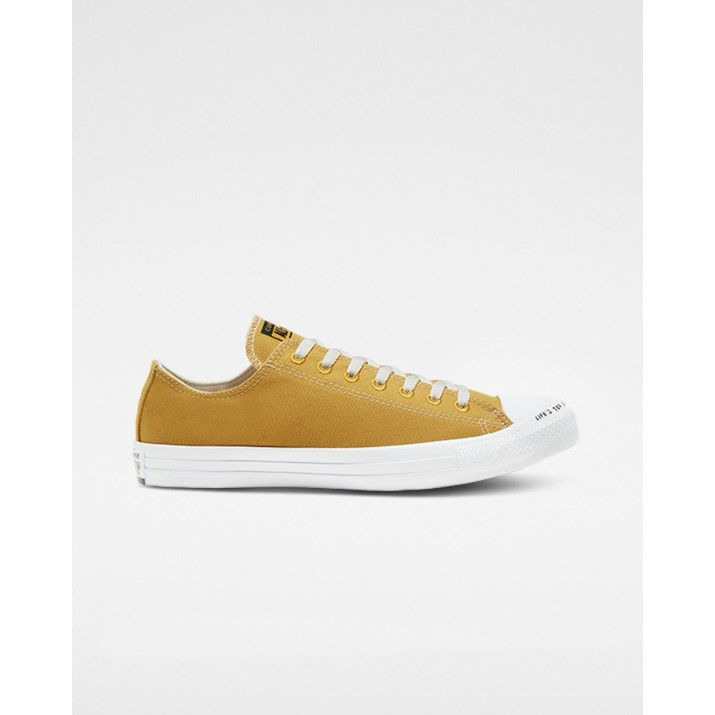 Womens Converse Chuck Taylor All Star Shoes Gold/Black/White 885OXHIC