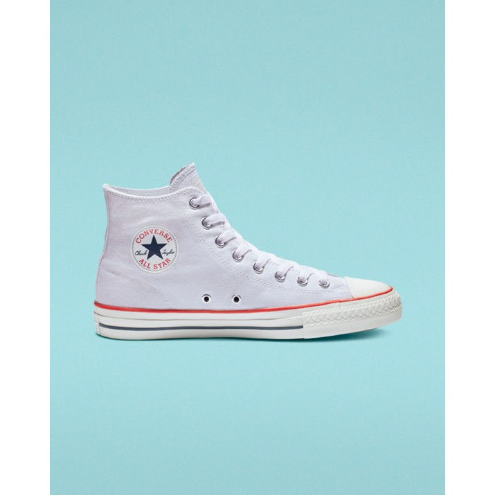 Mens Converse Ctas Pro Shoes White/Red/Blue 927VSLBD