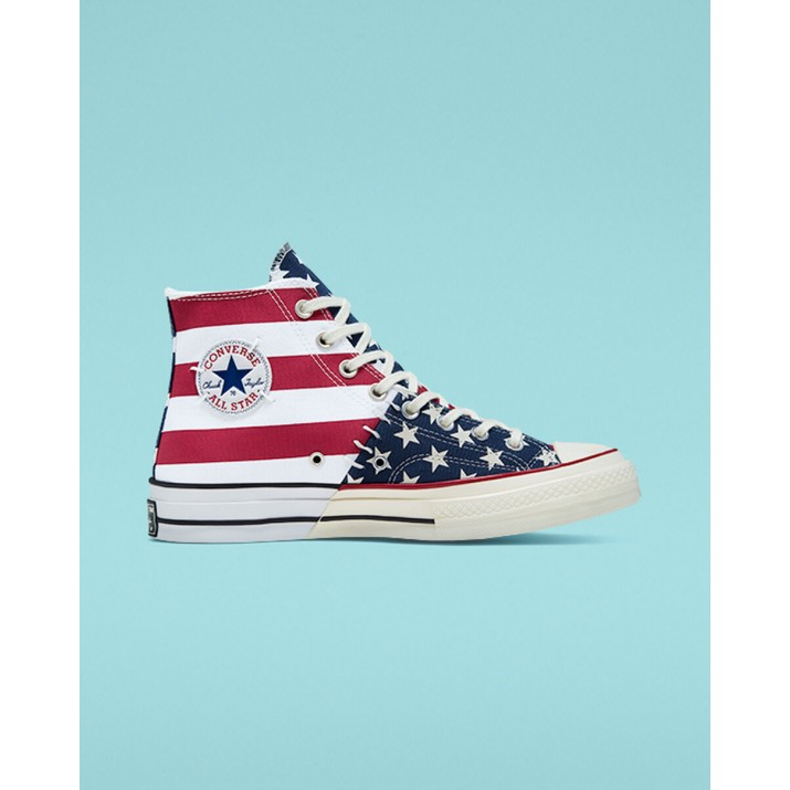 Mens Converse Chuck 70 Shoes White/Dark Red 931MZKUR